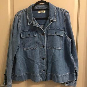 Madewell Soft Denim Jean Jacket Pleated Back XL